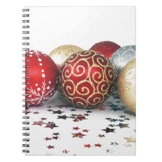 Diseño de la decoración del navidad libretas