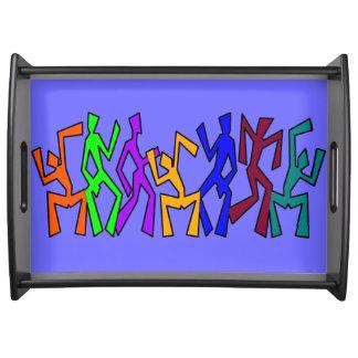 Diseño de la diversión, bailarines raros bandejas