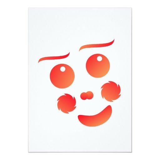 Diseño de la diversión de la cara de la forma del invitación 12,7 x 17,8 cm