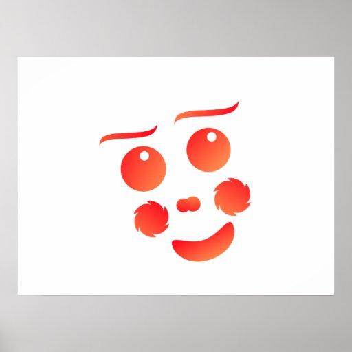Diseño de la diversión de la cara de la forma del  póster