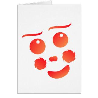 Diseño de la diversión de la cara de la forma del tarjeta pequeña