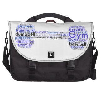 Diseño de la diversión de la pesa de gimnasia del bolsa de ordenador