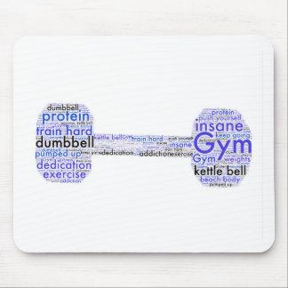 Diseño de la diversión de la pesa de gimnasia del alfombrilla de ratón