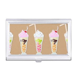 Diseño de la diversión del batido de leche en cajas de tarjetas de negocios