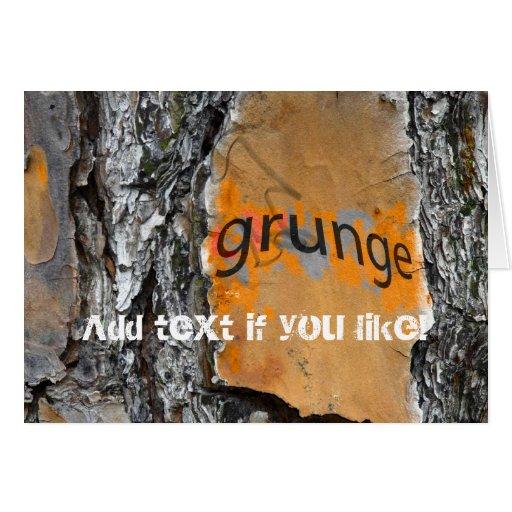 Diseño de la diversión del Grunge de la corteza Tarjeta De Felicitación