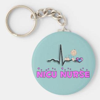 Diseño de la enfermera QRS de NICU Llavero Redondo Tipo Pin