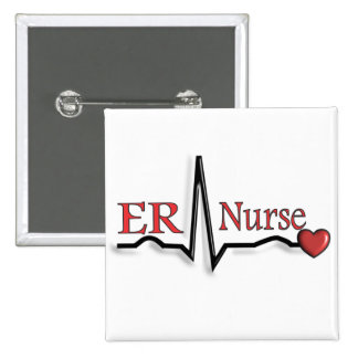 Diseño de la enfermera QRS del ER Pin Cuadrado