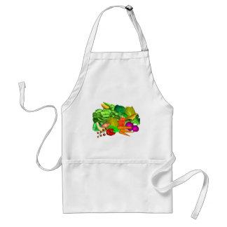 Diseño de la ensalada del Veggie encendido Delantal