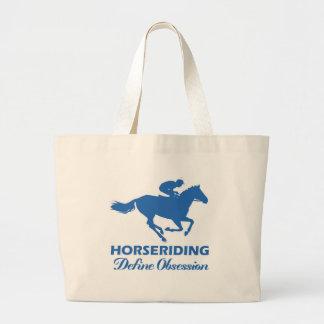 diseño de la equitación bolsa tela grande