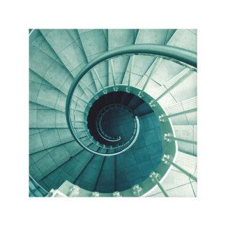 Diseño de la escalera espiral en lona lona envuelta para galerías