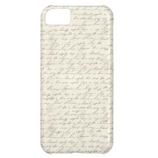 Diseño de la escritura del vintage funda para iPhone 5C