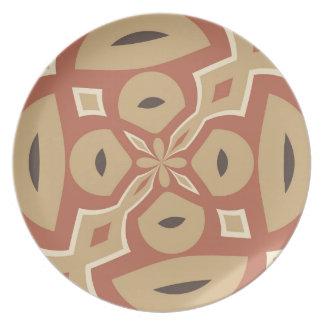 Diseño de la especia de la calabaza de otoño plato para fiesta