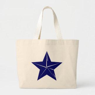 ¡Diseño de la estrella azul para cualquier propósi Bolsa Tela Grande