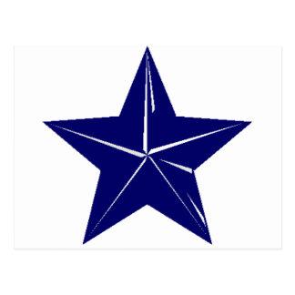 ¡Diseño de la estrella azul para cualquier propósi Postal