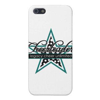 Diseño de la estrella de la animadora iPhone 5 protectores