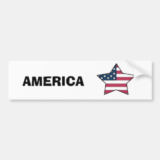 Diseño de la estrella de la bandera de los E.E.U.U Pegatina Para Auto
