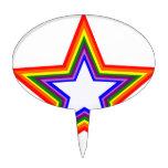 Diseño de la estrella del arco iris palillos de tarta