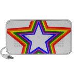 Diseño de la estrella del arco iris altavoz de viaje