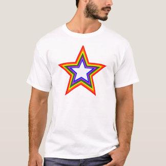 Diseño de la estrella del arco iris playera
