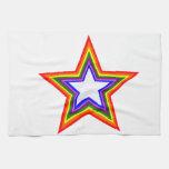 Diseño de la estrella del arco iris toalla