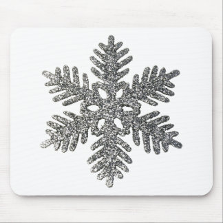 Diseño de la estrella del copo de nieve de la plat tapete de raton