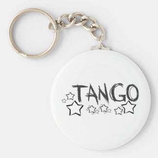¡Diseño de la estrella del tango! Llavero Redondo Tipo Pin