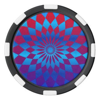 Diseño de la estrella juego de fichas de póquer