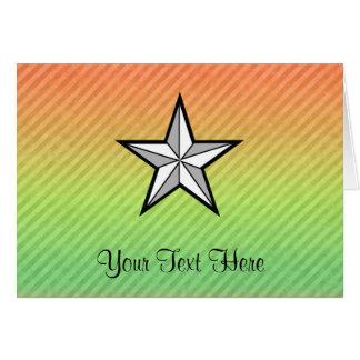 Diseño de la estrella tarjeta de felicitación