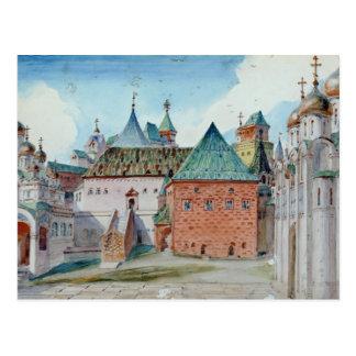 Diseño de la etapa para la ópera de Mussorgsky mod Postal