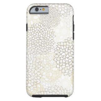 Diseño de la explosión de la arcilla y de la flor funda de iPhone 6 tough