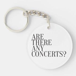 ¿Diseño de la expresión - hay conciertos? Llavero Redondo Acrílico A Una Cara