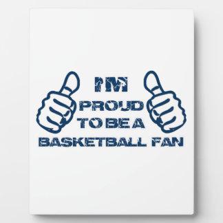 Diseño de la fan de baloncesto placas