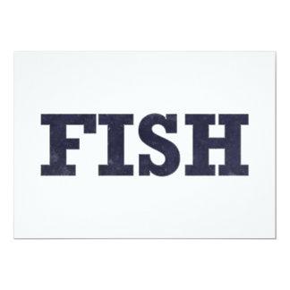 """Diseño de la fan de la pesca de los """"pescados"""" invitación 5"""" x 7"""""""