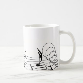"""""""Diseño de la fantasía de la música"""" Taza Básica Blanca"""