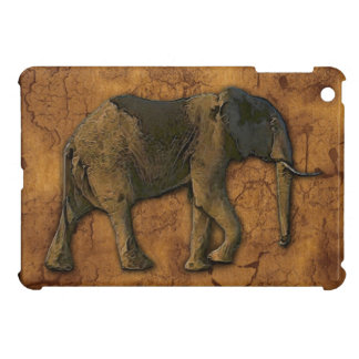 Diseño de la fauna del elefante africano para los  iPad mini coberturas