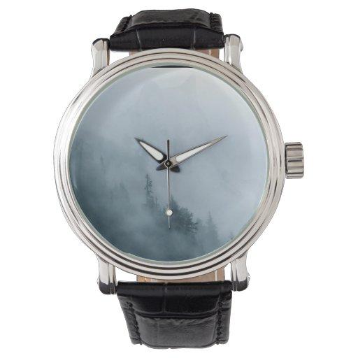 Diseño de la fauna del lobo gris reloj de mano