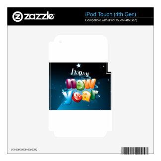 Diseño de la Feliz Año Nuevo Calcomanía Para iPod Touch 4G