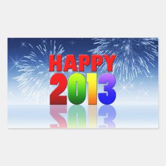 Diseño de la Feliz Año Nuevo Pegatina Rectangular
