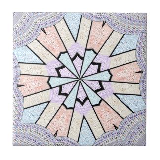 Diseño de la fiesta de bienvenida al bebé azulejo cuadrado pequeño