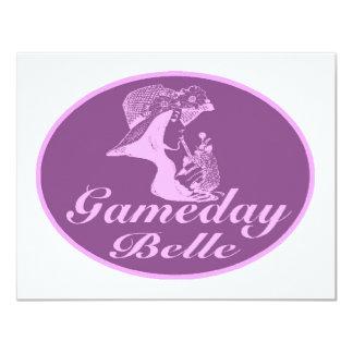 """Diseño de la firma de la belleza de Gameday Invitación 4.25"""" X 5.5"""""""