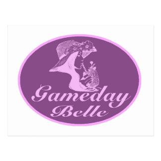 Diseño de la firma de la belleza de Gameday Tarjeta Postal