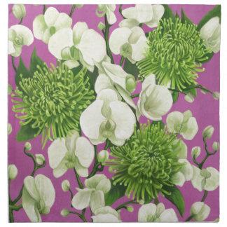 Diseño de la flor de la dalia servilletas de papel