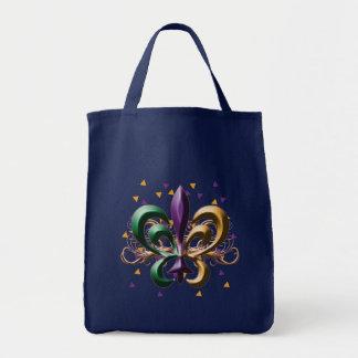 Diseño de la flor de lis del carnaval bolsa tela para la compra
