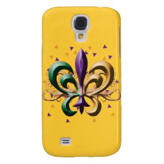 Diseño de la flor de lis del carnaval funda para galaxy s4