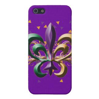 Diseño de la flor de lis del carnaval iPhone 5 carcasas
