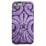 Diseño de la flor de lis (púrpura)