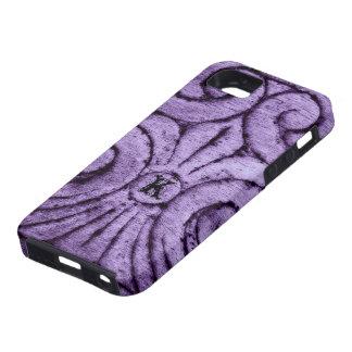 Diseño de la flor de lis (púrpura) funda para iPhone 5 tough