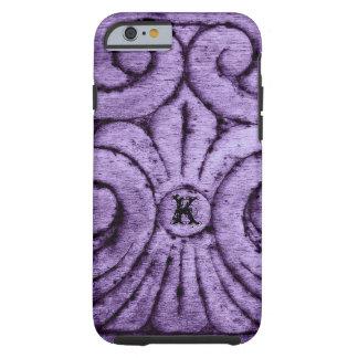 Diseño de la flor de lis (púrpura) funda para iPhone 6 tough