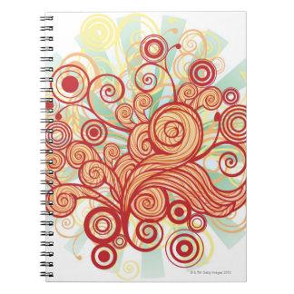 Diseño de la flora cuaderno
