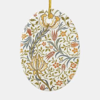 Diseño de la flora de William Morris Adorno Ovalado De Cerámica
